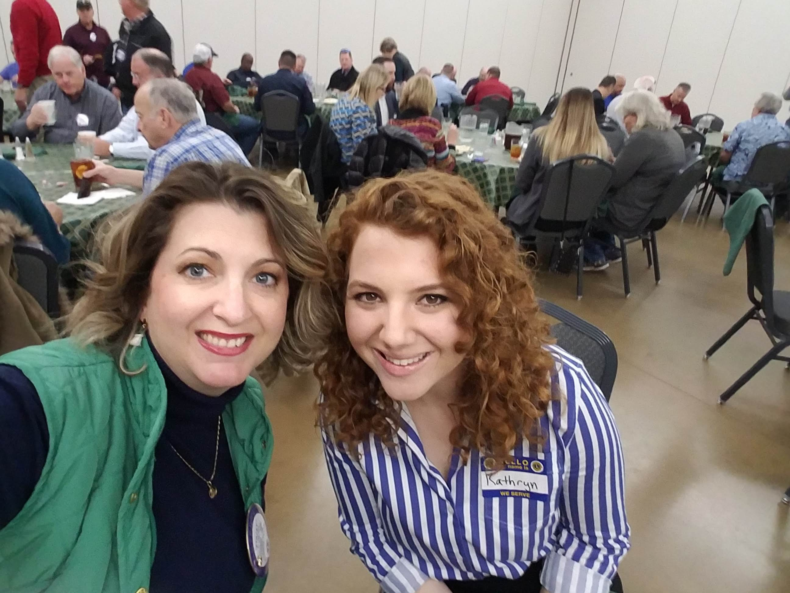Kathryn and I at the Conroe Noon Lions Club Luncheon.